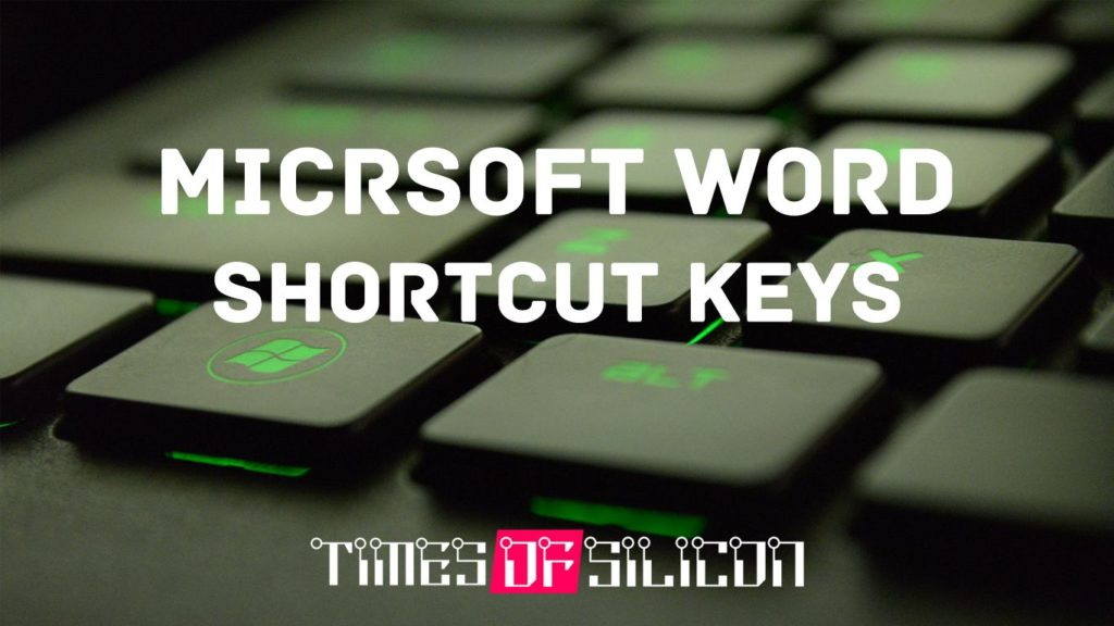 List of MS Word Shortcut Keys PDF – Download