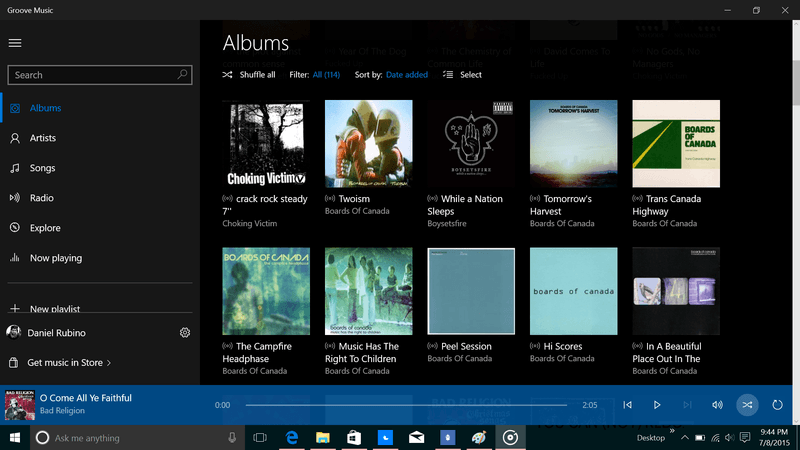 groove music app without wifi
