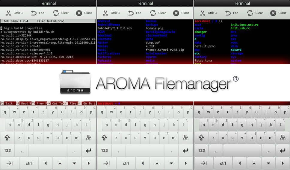 Aroma File Manager Download: Recovery File Manager for Android