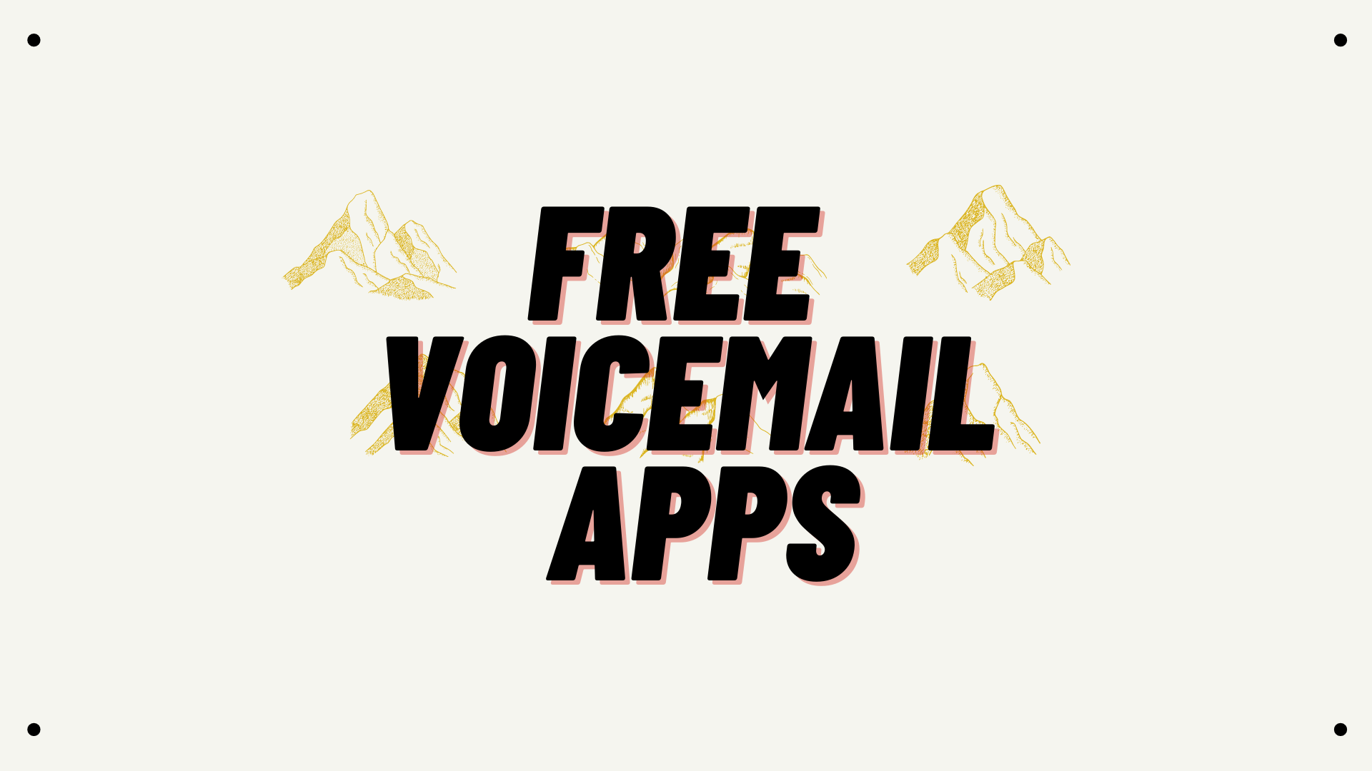 free voicemail app and service